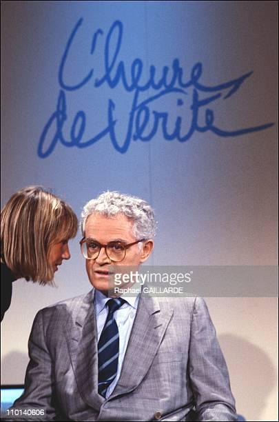 Jospin on TV 'The moment of truth' Lionel Jospin in France on October 7 1987