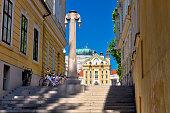 Ljubljana architecture and Church of Holy Trinity , capital of Slovenia