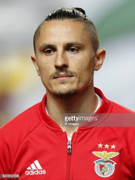 Ljubomir Fejsa of SL Benficaduring the UEFA Champions League round of 16 match between SL Benfica and Borussia Dortmund on February 14 2017 at...