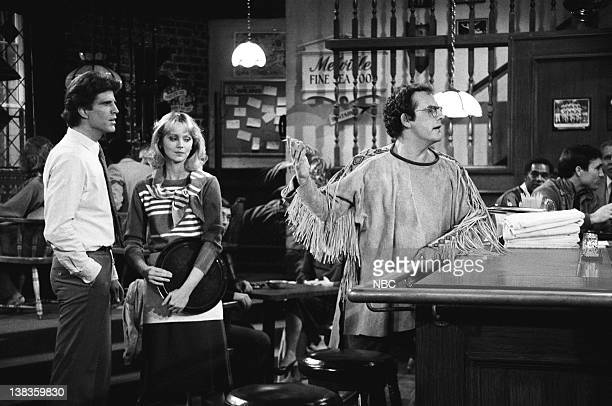 CHEERS 'I'll Be Seeing You Part 1' Episode 21 Air Date Pictured Ted Danson as Sam Malone Shelley Long as Diane Chambers Christopher Lloyd as Phillip...