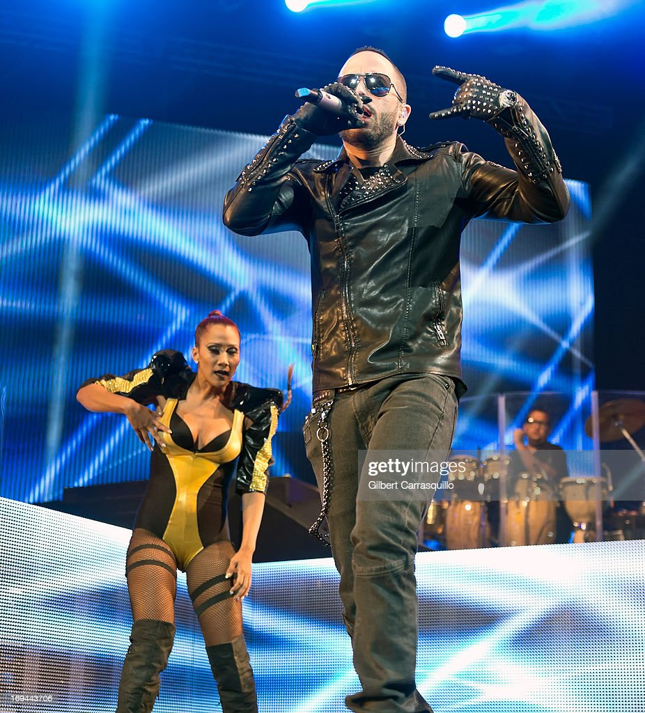 Llandel Veguilla Malave aka 'Yandel' of Wisin y Yandel performs during Lideres World Tour 2013 at the Liacouras Center on May 24, 2013 in Philadelphia, Pennsylvania.