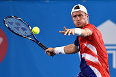 Lleyton Hewitt of Australia competes during the 2016 World Tennis Challenge match between Lleyton Hewitt of Australia and Fernando Verdasco of Spain...