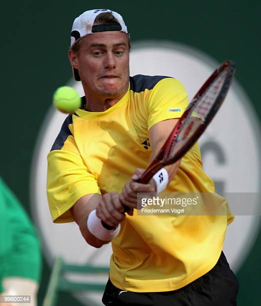 Lleyton Hewitt of Australia in action during his match against John Isner of the USA during day one of the ARAG World Team Cup at the Rochusclub on...