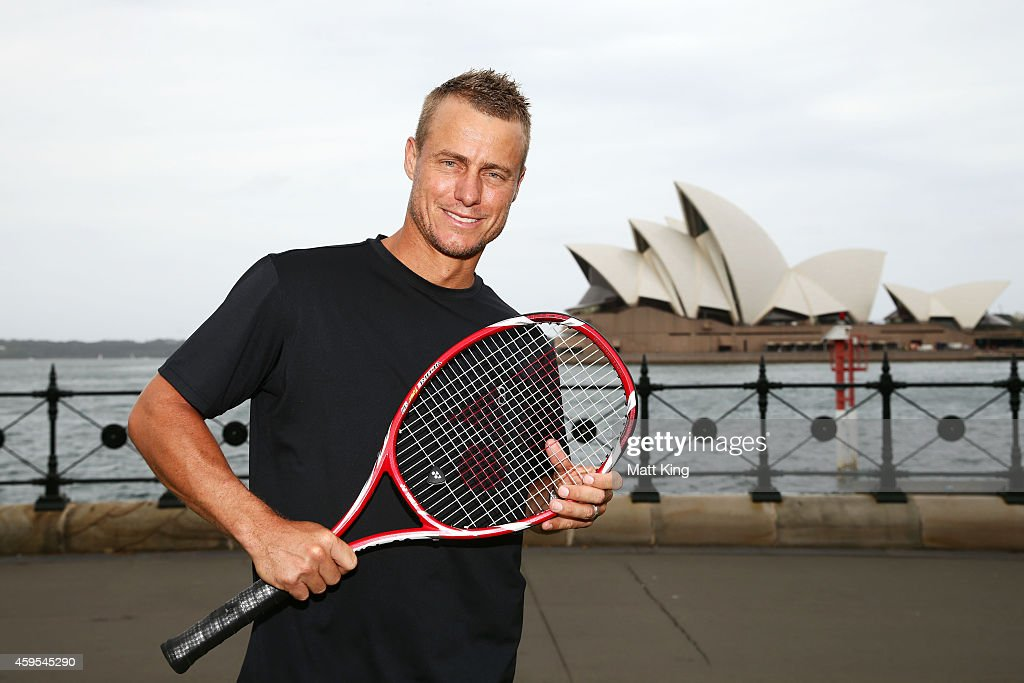<a gi-track='captionPersonalityLinkClicked' href=/galleries/search?phrase=Lleyton+Hewitt&family=editorial&specificpeople=167178 ng-click='$event.stopPropagation()'>Lleyton Hewitt</a> sposes during a Tennis Australia announcement at Hickson Road Reserve on November 25, 2014 in Sydney, Australia.
