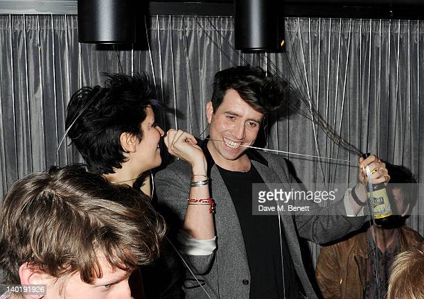 Lliana Bird and Nick Grimshaw attend the Wyld Bar NME Awards after party at W London Leicester Square on February 29 2012 in London England