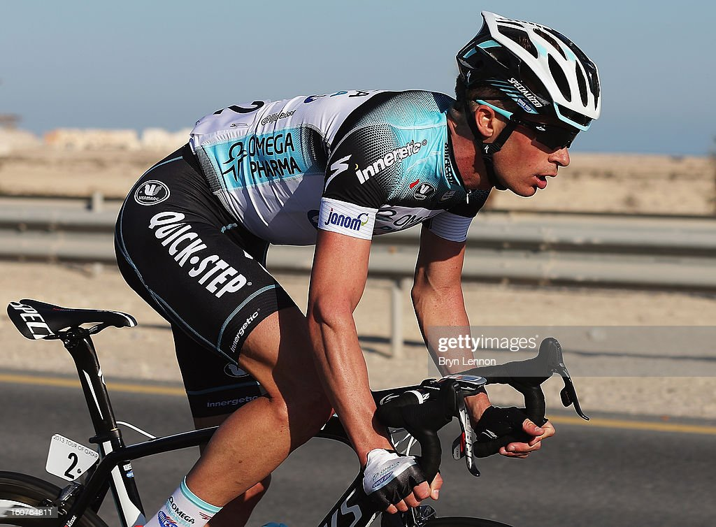 lljo Keisse of Belgium and Omega Pharma - Quick Step in action on stage three of the Tour of Qatar from Al Wakra to Mesaieed on February 5, 2013 in Doha, Qatar.