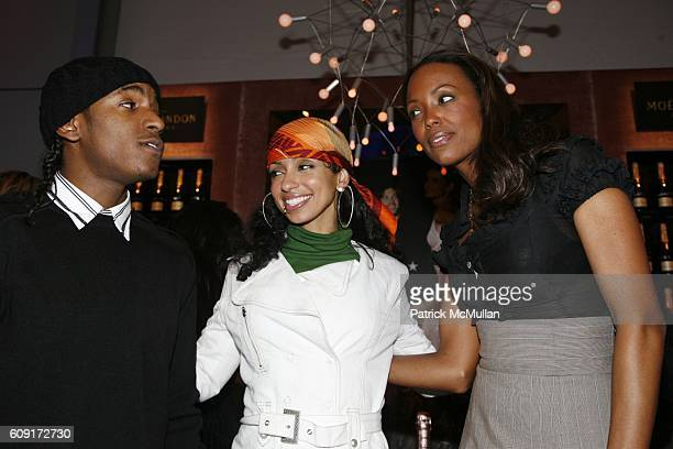 Lloyd Banks Mya and Aisha Tyler attend THE TENTS at Bryant Park on February 8 2007 in New York City