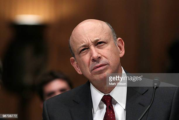 Lloyd Blankfein chairman and CEO of The Goldman Sachs Group testifies before the Senate Homeland Security and Governmental Affairs Investigations...