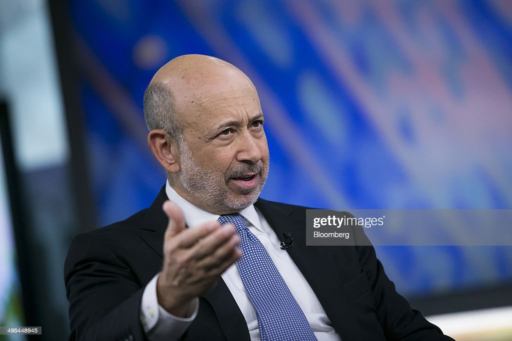 <a gi-track='captionPersonalityLinkClicked' href=/galleries/search?phrase=Lloyd+Blankfein&family=editorial&specificpeople=4085054 ng-click='$event.stopPropagation()'>Lloyd Blankfein</a>, chief executive officer of Goldman Sachs Group Inc., smiles during a Bloomberg Television interview in New York, U.S., on Tuesday, June 3, 2014. 'It's not a bad thing to be intimidated, but instead of paralyzing you it should prepare you to overprepare, to rehearse,' Blankfein said, describing advice he would give to entrepreneurs. Photographer: Scott Eells/Bloomberg via Getty Images