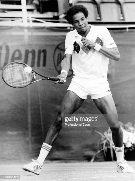 Lloyd Bourne of the United States in action on the 25th May 1985
