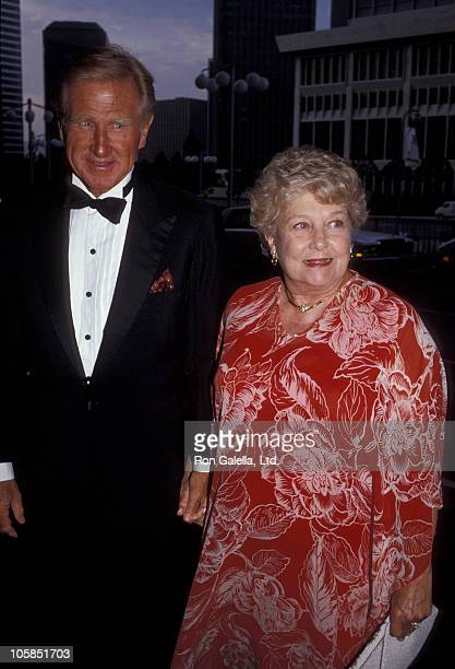 Lloyd Bridges and Dorothy Dean Bridges during Valentino Awards honoring Gregory Peck at Century Plaza Hotel in Century City California United States