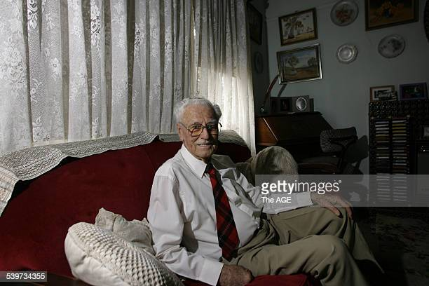 Lloyd Deer in his home for story about John Howard on his tenth anniversary as Prime Minister on 17th February 2006 THE AGE NEWS Picture by MICHAEL...