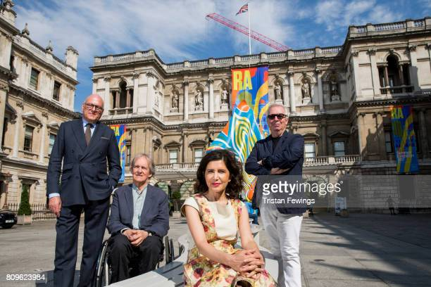 Lloyd Dorfman and Royal Academician architects Alan Stanton Farshid Moussavi and Sir David Chipperfield attend an announcement of a major gift from...