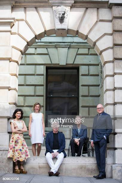 Lloyd Dorfman and Royal Academician architects Farshid Moussavi Head of Architecture at the RA Kate Goodwin Sir David Chipperfield and Alan Stanton...