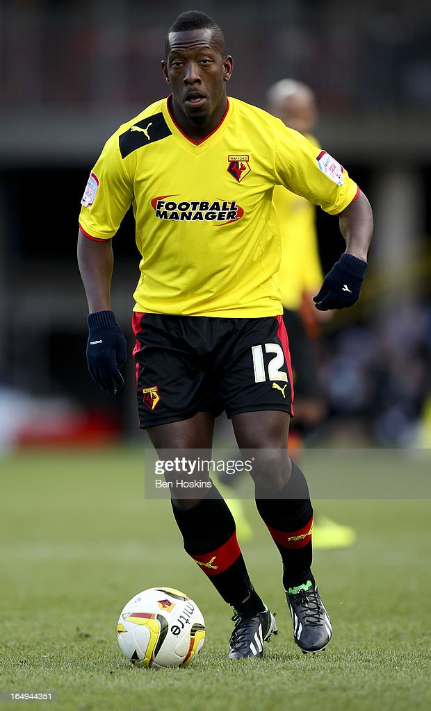 Lloyd Doyley of Watford in action during the npower Championship match between Watford and Burnley at Vicarage Road on March 29, 2013 in Watford, England.