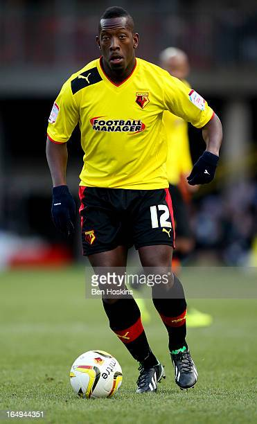 Lloyd Doyley of Watford in action during the npower Championship match between Watford and Burnley at Vicarage Road on March 29 2013 in Watford...