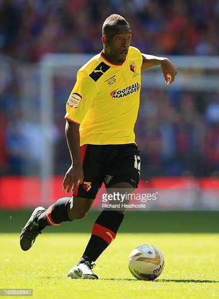 Lloyd Doyley of Watford in action during the npower Championship Playoff Final match between Watford and Crystal Palace at Wembley Stadium on May 27...