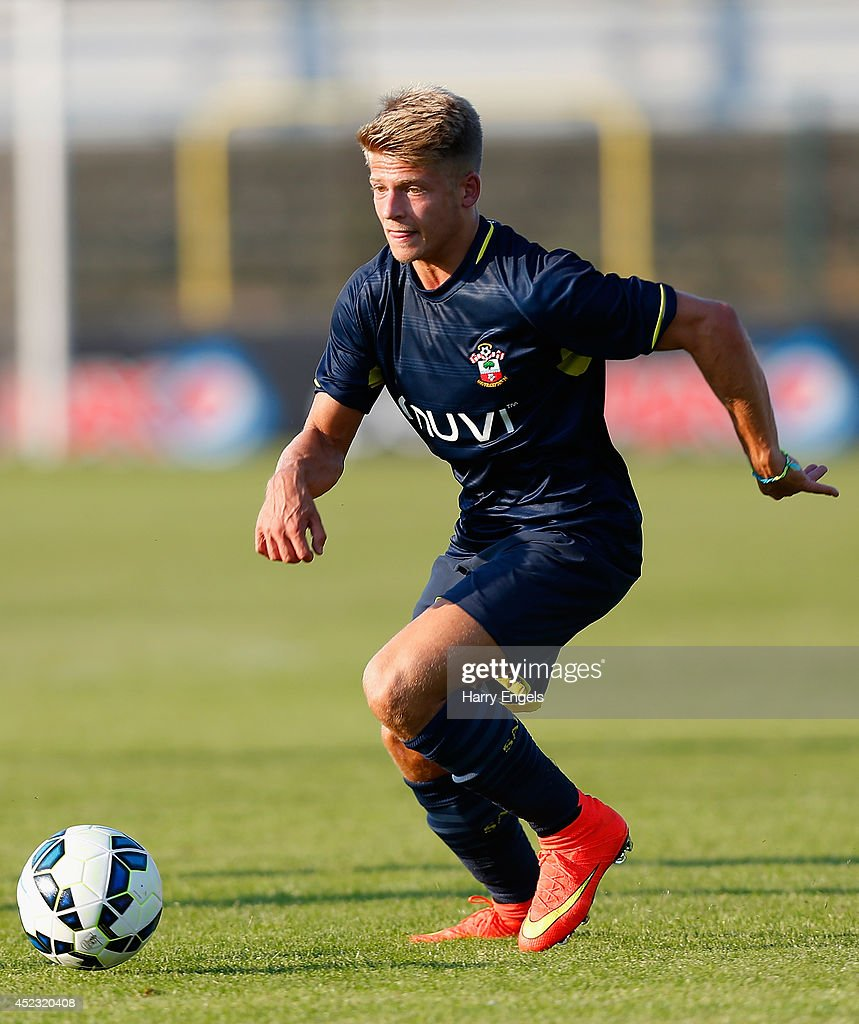 Lloyd Isgrove of Southampton in action during the pre-season friendly match between KSK Hasselt and Southampton at the Stedelijk Sportstadion on July 17, 2014 in Hasselt, Belgium.