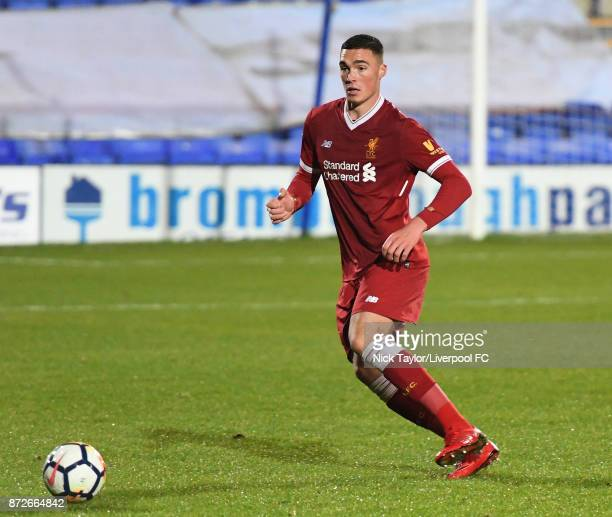 Lloyd Jones of Liverpool in action during the Liverpool U23 v Newcastle United U23 Premier League International Cup game at Prenton Park on November...