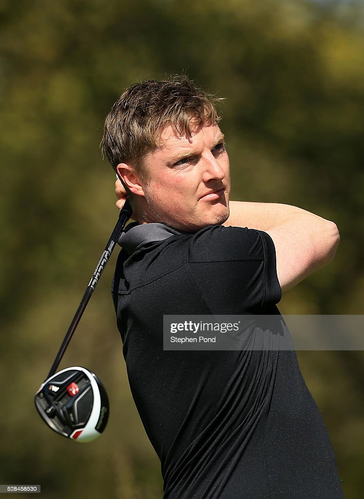 Lloyd Kennedy of Woolston Manor Golf Club during the PGA Assistants Championship East Qualifier at Ipswich Golf Club on May 5, 2016 in Ipswich, England.
