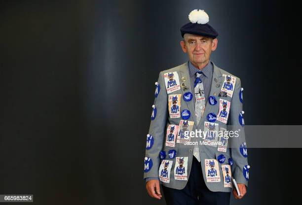 Lloyd Menz poses in is homemade 'Winx' jacket during The Championships Day 2 Queen Elizabeth Stakes Day at Royal Randwick Racecourse on April 8 2017...