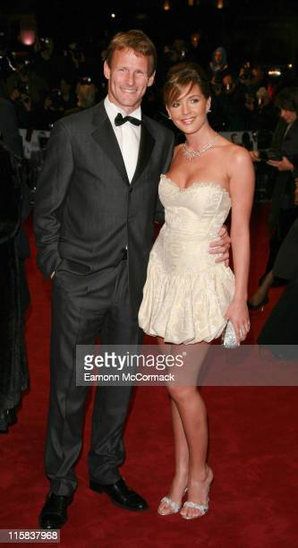 Lloyd Teddy Sheringham and Danielle Lloyd during 'Casino Royale' World Premiere Outside Arrivals at Odeon Leicester Square in London Great Britain