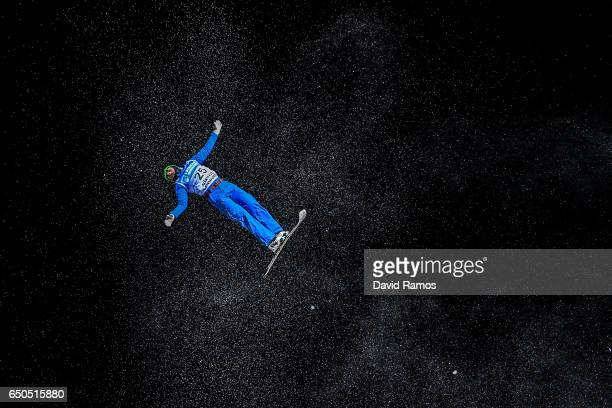 Lloyd Wallace of Great Britain in action during Men's Aerials Training on day two of the FIS Freestyle Ski and Snowboard World Championships 2017 on...