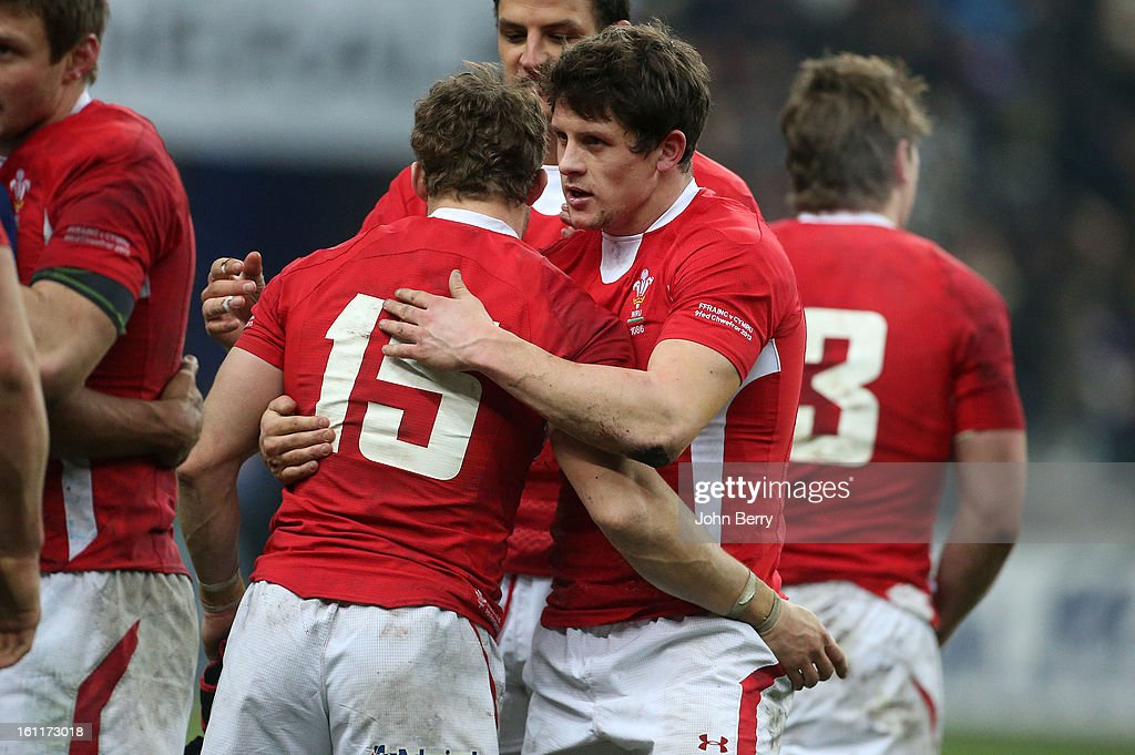 Lloyd Williams of Wales celebrates the victory after the 6 Nations match between France and Wales at the Stade de France on February 9,, 2013 in Paris, France.