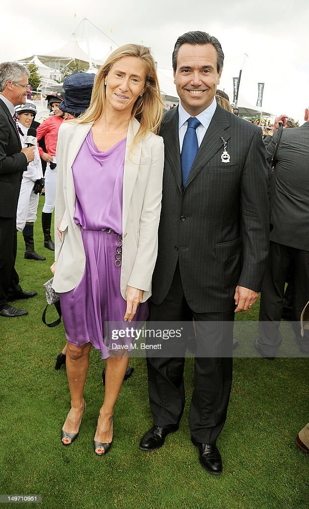 Lloyds CEO Antonio Horta-Osorio (R) and wife Ana attend Ladies Day at Glorious Goodwood held at Goodwood Racecourse on August 2, 2012 in Chichester, England.