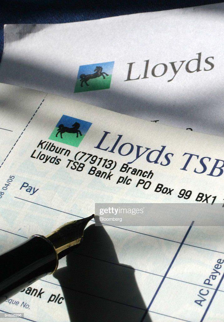 A lloyds tsb cheque book is displayed for a photo illustrati a lloyds tsb cheque book is displayed for a photo illustration in london uk ccuart Images