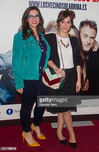 Llum Barrera and Ana Morgade attend 'Los vecinos de arriba' premiere at La Latina theatre on April 14 2016 in Madrid Spain