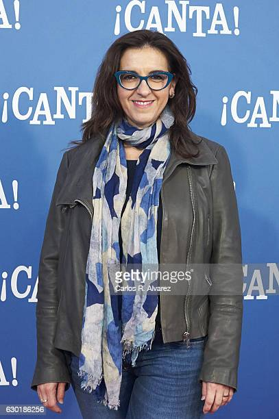 Llum Barrera attends 'Canta' premiere at Capitol cinema on December 18 2016 in Madrid Spain
