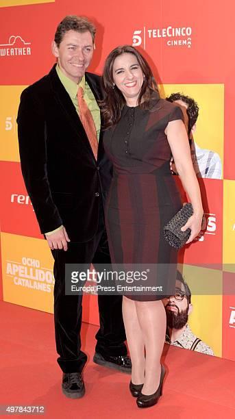 Llum Barrera Juanjo Pardo attend 'Ocho Apellidos Catalanes' premiere at Capitol cinema on November 18 2015 in Madrid Spain