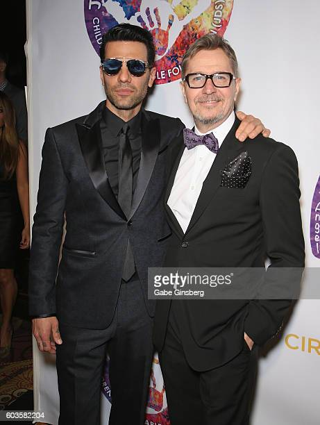 llusionist Criss Angel and actor Gary Oldman attend Criss Angel's HELP charity event at the Luxor Hotel and Casino benefiting pediatric cancer...