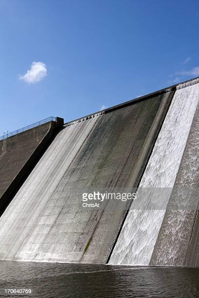 Llys y Fran Reservoir Dam overflow