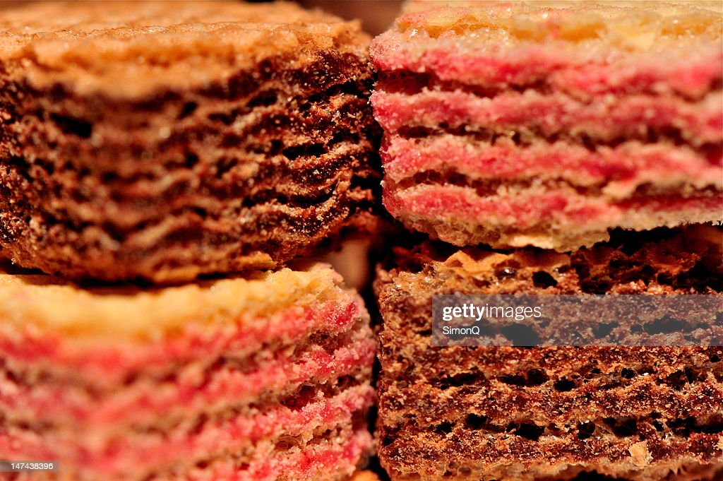 Loacker wafer cookies : Stock Photo