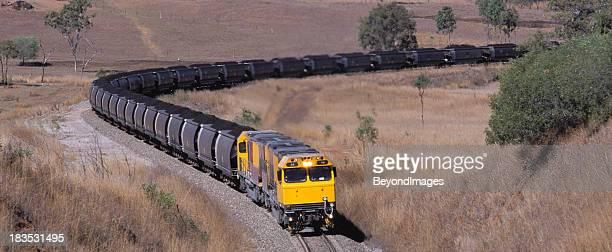 Loaded coal train heads to port