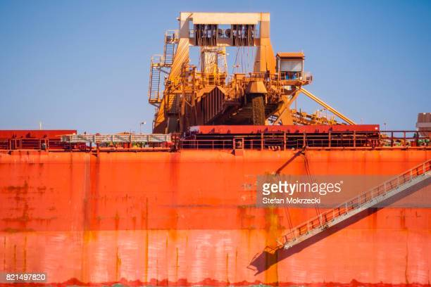Loading Berthed Iron Ore Ship, Port Hedland, Australia