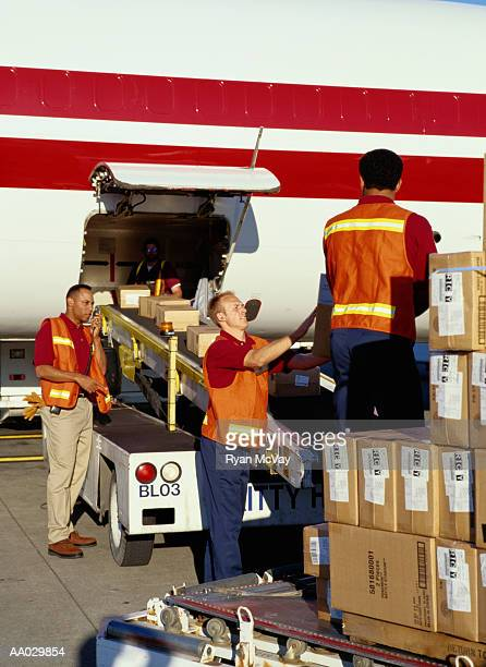 Loading Cargo onto Freight Airplane