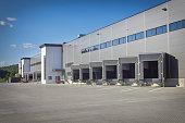 Loading Dock Bay Doors at Warehouse