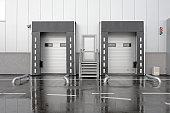 Loading Bay Dock for Trucks at Distribution Warehouse
