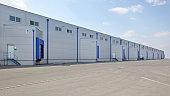 Loading Bay at Long Distribution Warehouse Buildin