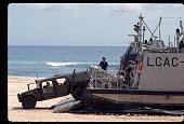 Loading Humvees on Hovercraft