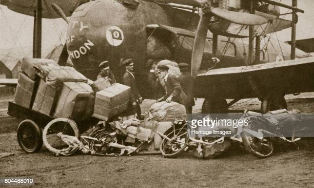 Loading VickersVimy aircraft 'City of London' with motorbike frames for Cologne c1919c1929 The VickersVimy was a British heavy bomber aircraft of the...