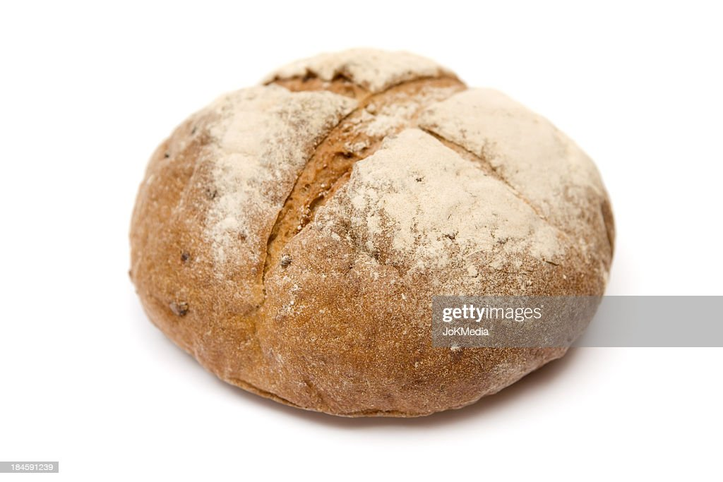 Loaf of bread isolated on a white background : Stock Photo