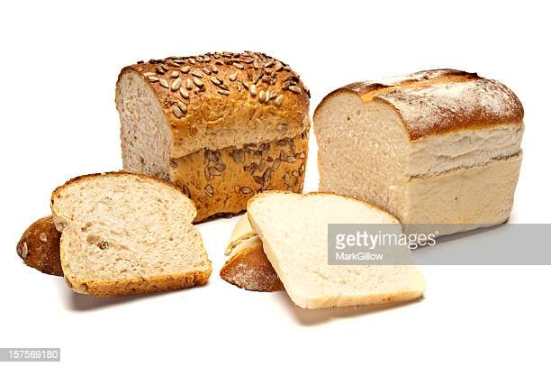 Loaf of brown Seeded Bread and White Bread