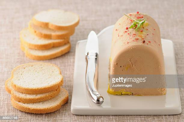 Loaf of foie gras pate