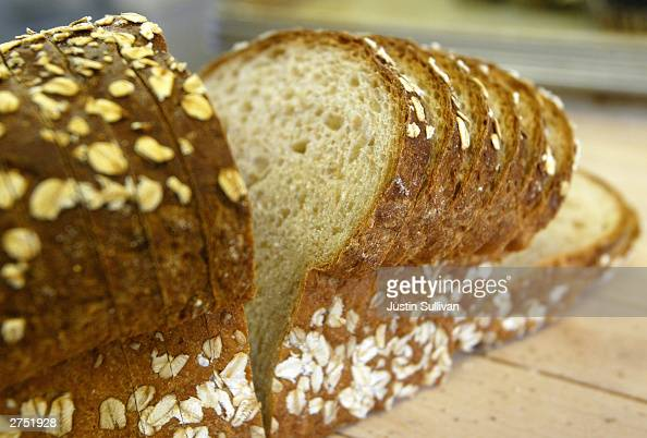 A loaf of sliced wheat bread is seen on the shelf at the Noe Valley Bakery and Bread Co November 21 2003 in San Francisco California The popularity...