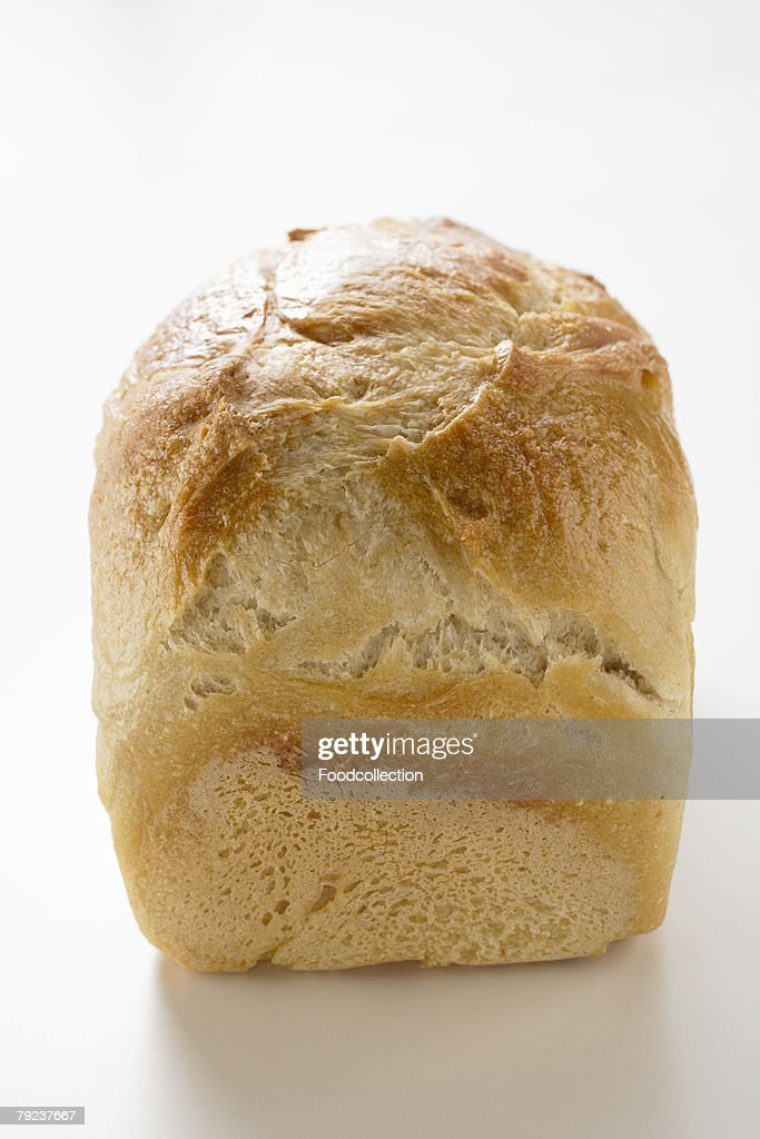 A loaf of white bread : Stock Photo