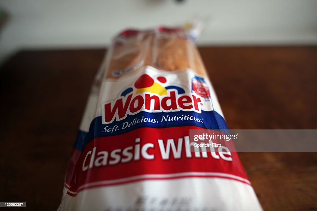 A loaf of Wonder Bread is viewed on January 10, 2012 in New York City. Hostess Brands Inc., the owner of such iconic brands as Twinkies and Wonder Bread,is preparing to file for Chapter 11 bankruptcy protection as soon as this week. The privately held Irving, Texas, company currently employs roughly 19,000 people and carries more than $860 million in debt. The company has been experiencing high labor costs and rising prices for sugar, flour and other ingredients.